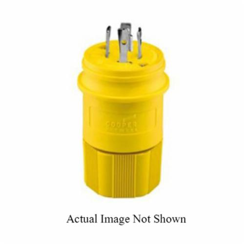 Eaton Wiring Devices Arrow Hart L1730PW Locking Plug, 600 VAC, 30 A, 3 Poles, 4 Wires, Yellow