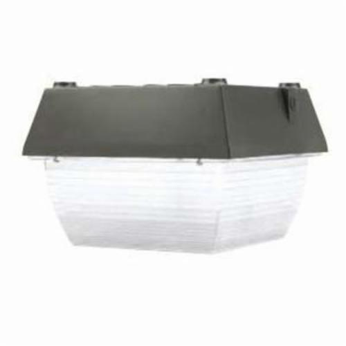 Atlas VN12-100MHQPK Square Vandalproof Canopy Light With MH100/U/M Lamp, (1) HID Lamp, 100 W Fixture, 120 to 277 VAC, Bronze Housing