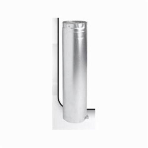 METAL-FAB 3M6A Type B Double Wall Adjustable Round Gas Vent Pipe, 3 in ID x 6 in L x 1/4 in THK, Aluminum