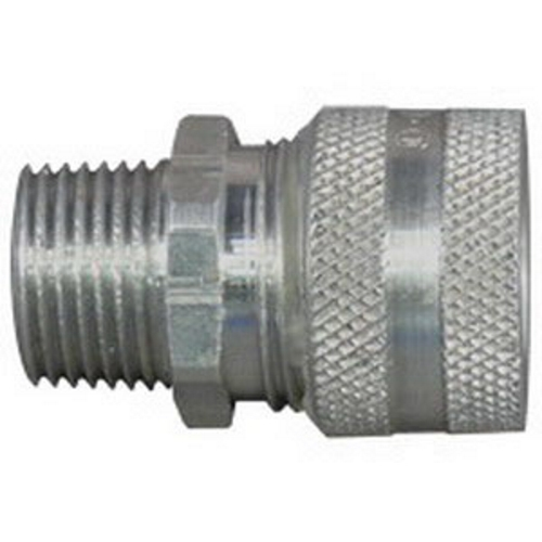 Appleton CG-125125 Strain Relief Straight Cord Connector, 1-1/4 in Trade, 1-1/4 to 1-3/8 in Cable Openings, Aluminum, Natural