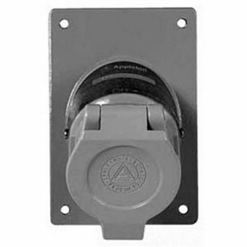 Appleton U-Line Contender ENR5201 Dust-Ignitionproof Replacement Explosionproof Receptacle Cover Assembly, 125 VAC, 20 A, 3 Poles