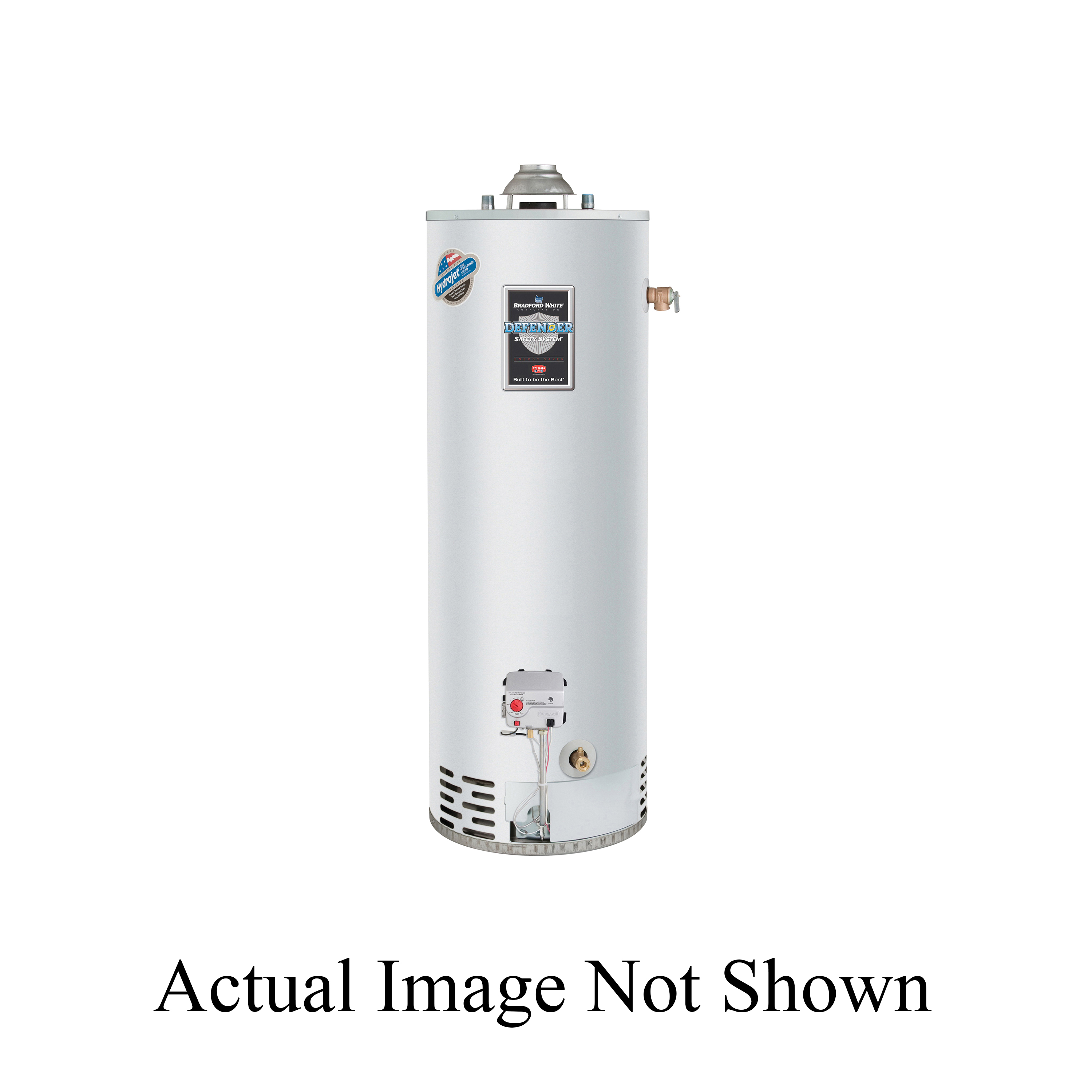 Bradford White Defender Safety System RG140T6N-394-500 Gas Water Heater, 34000 Btu/hr Heating, 40 gal Tank, Natural Gas Fuel, Atmospheric Vent