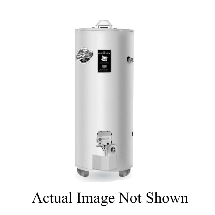 Bradford White Defender Safety System M-I-100T6BN Gas Water Heater, 85000 Btu/hr Heating, 100 gal Tank, Natural Gas Fuel, Atmospheric Vent