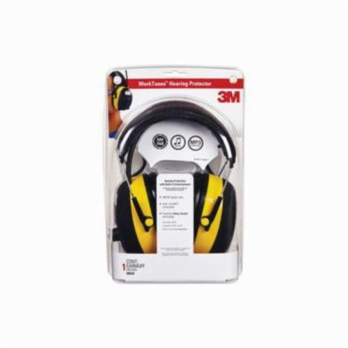 3M 078371-90541 WorkTunes Digital Hearing Protector, 22/26 dB Noise Reduction, Yellow