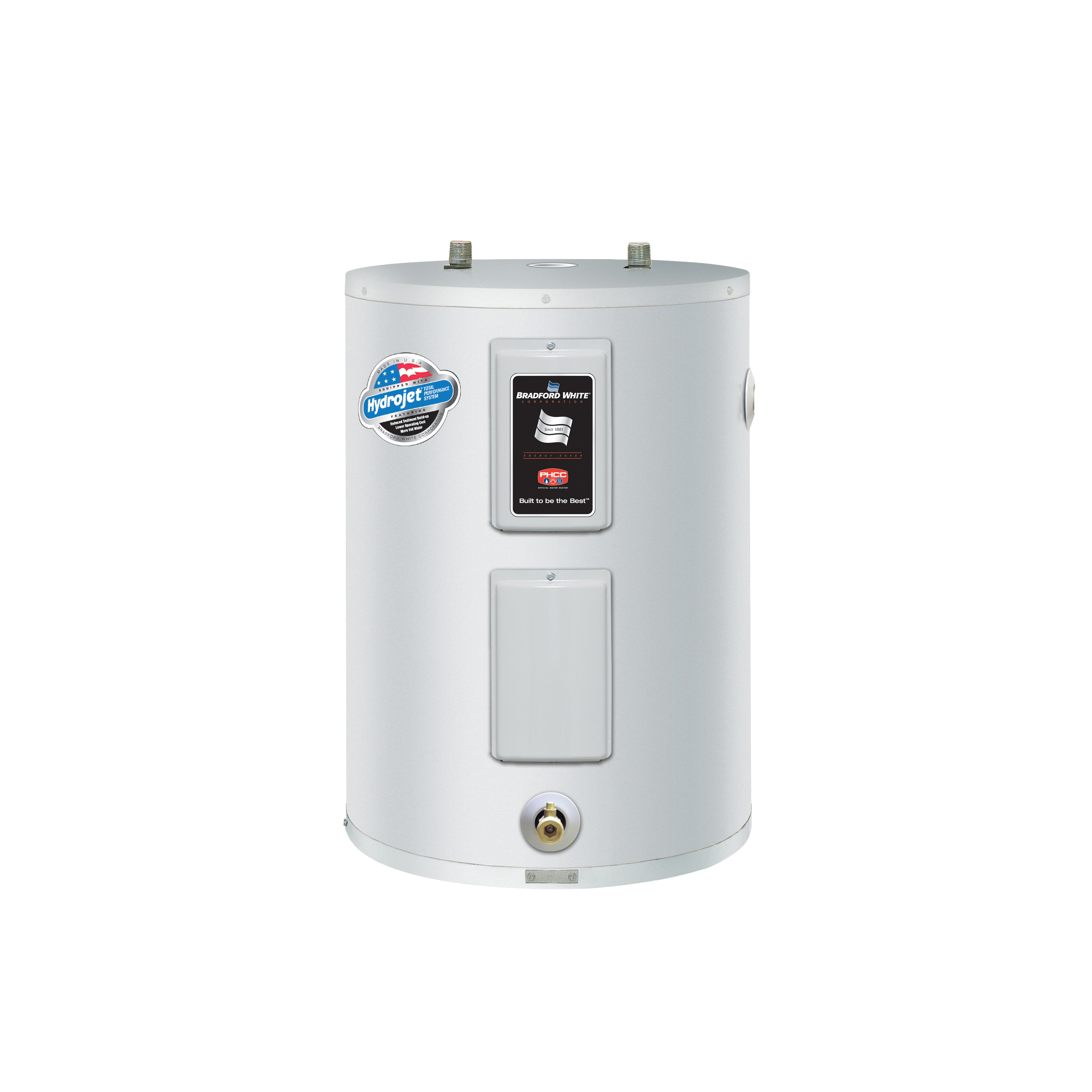 Products Bradford White Re240l6 1ncy Lowboy Electric Water Heater 38 Gal Tank 208 240 Vac 4000 W At 5500 1 Ph