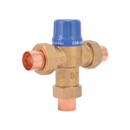 Cash Acme 24502 HG110-D Thermostatic Mixing Valve, 1 to 20 gpm, 230 psi, 3/4 in C Inlet x 3/4 in C Outlet