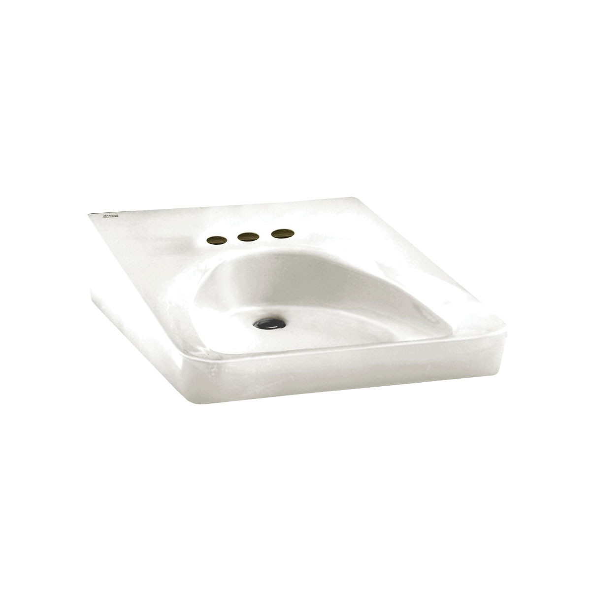 American Standard 9141.011.020 Wheelchair Users Bathroom Sink With Front Overflow, Rectangular, 4 in Faucet Hole Spacing, 20 in W x 27 in H