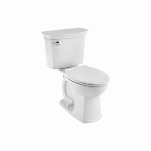 American Standard ActiClean HET 714AA154.020 VorMax 2-Piece Complete Toilet, Right Height Elongated Bowl, 16-1/2 in H Rim, 1.28 gpf, White