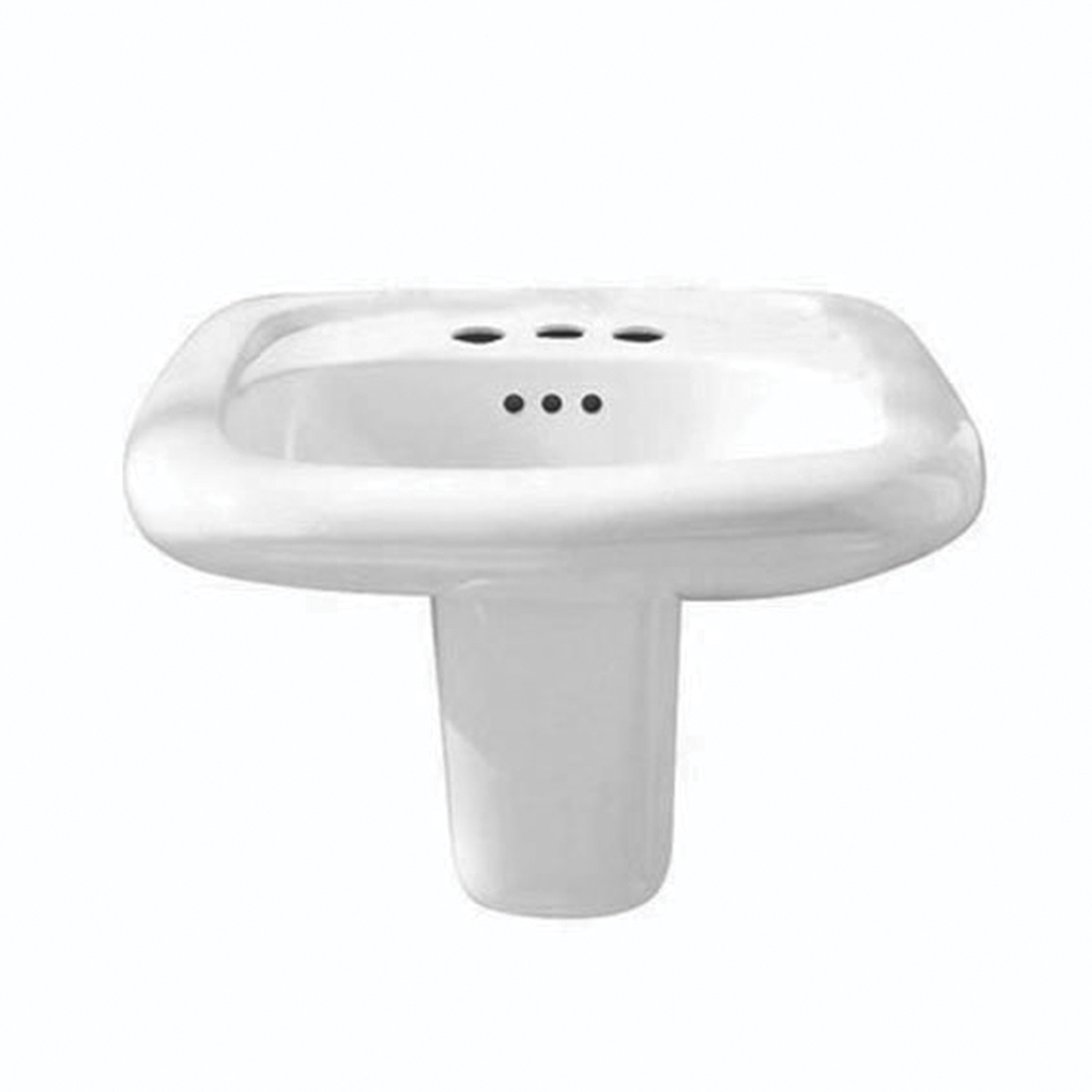 American Standard 0958.000.020 Murro Universal Design Lavatory Sink, Rectangular, 8 in Faucet Hole Spacing, 21-1/4 in W x 20-1/2 in D