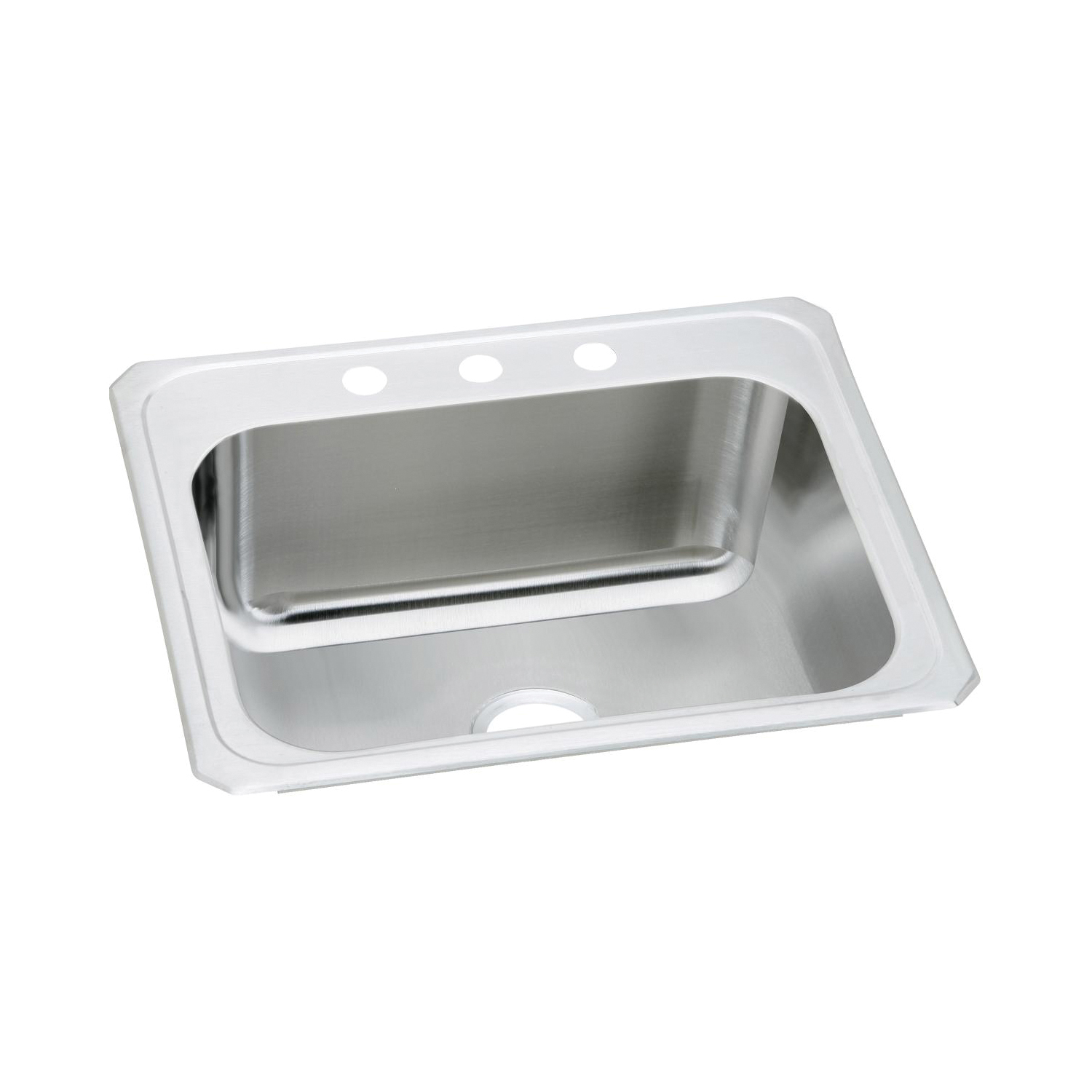 Elkay DCR2522104 Pursuit Laundry Sink, Rectangular, 25 in W x 10-1/4 in D x 22 in H, Top Mount, Stainless Steel, Brushed Satin