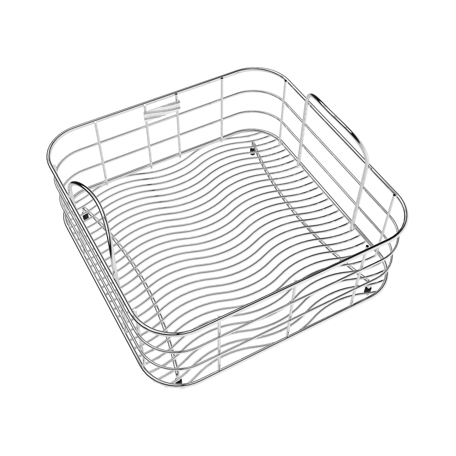 Elkay LKWRB1414SS Rinsing Basket, 13 in L x 13 in W x 7 in H, Rectangular, Bright Polished