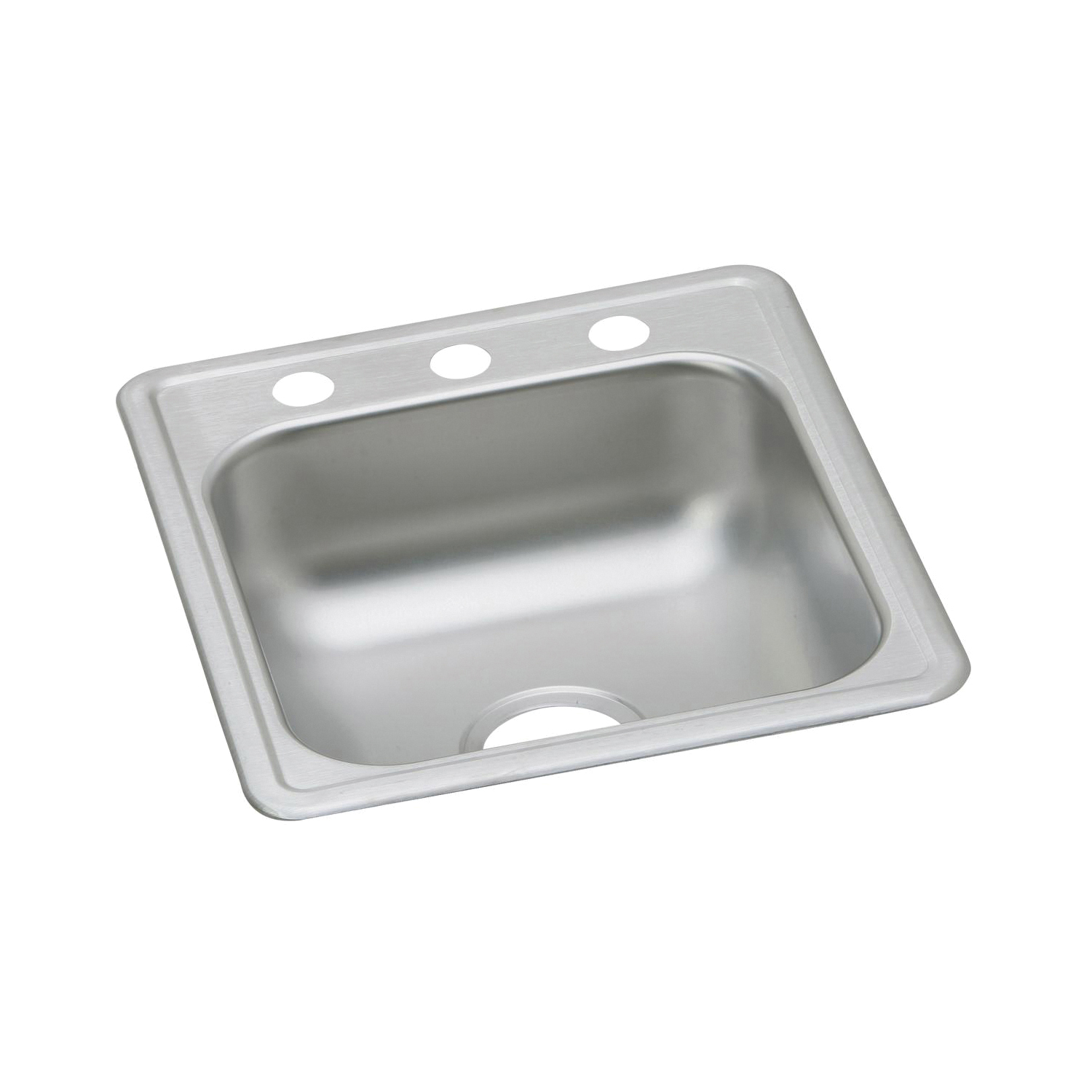 Elkay D117192 Dayton Bar Sink, Rectangular, 2 Faucet Holes, 19 in W x 6-3/16 in D x 17 in H, Top Mount, Stainless Steel, Satin