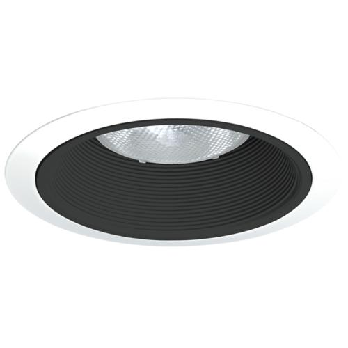 Juno 24 WWH 24 Series Downlight Tapered Baffle Trim, 7-5/8 in OD, Halogen/LED Lamp
