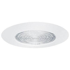 Elite Lighting AF605WH Fresnel Shower Trim, 8 in OD, Incandescent Lamp, For Use With EZ6IC-AT, EZ6RIC-AT 6 in Housing, Metal