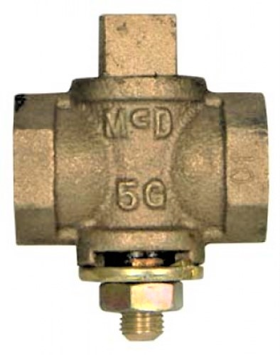 "1-1/2"" Brass Flat Head Gas Cock"