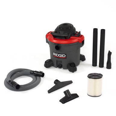 RIDGID 50323 Wet or Dry Vac, 10 A, 12 gal, 5 hp Peak