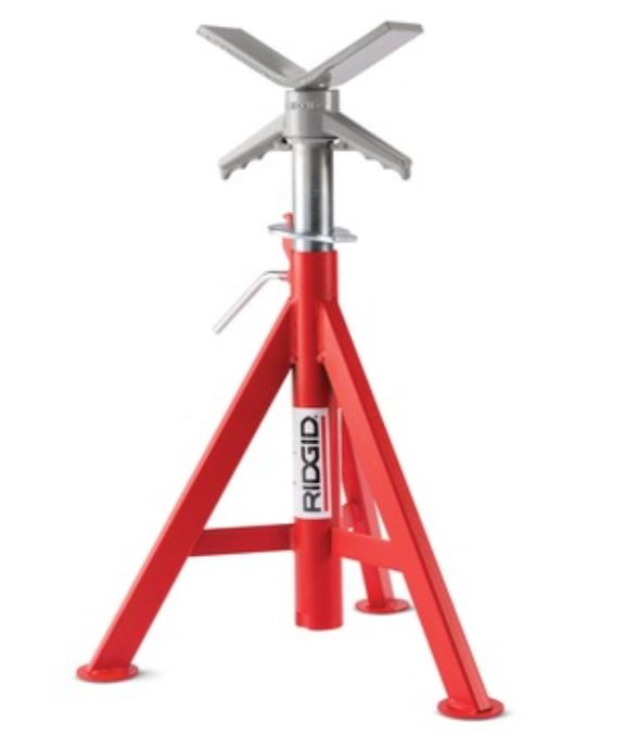 RIDGID 22168 V-Head High Pipe Stand, 12 in, 2500 lb