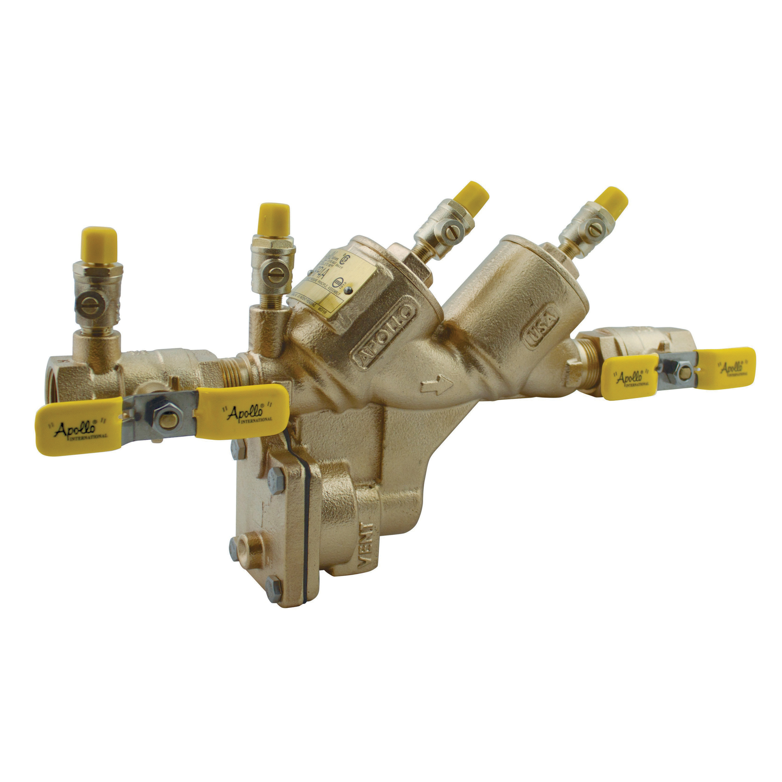 Apollo 4ALF204A2F RPLF4A Standard Backflow Preventer, '3/4, Shut-Off Ball Valve, Bronze Body, Reduced Pressure Backflow