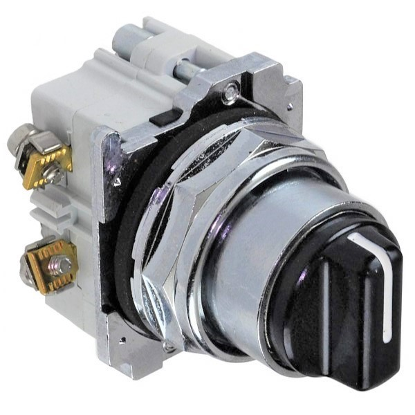 10250T Assembled Heavy Duty Oiltight/Watertight Non-Illuminated Selector Switch, 30.5 mm, 2NO
