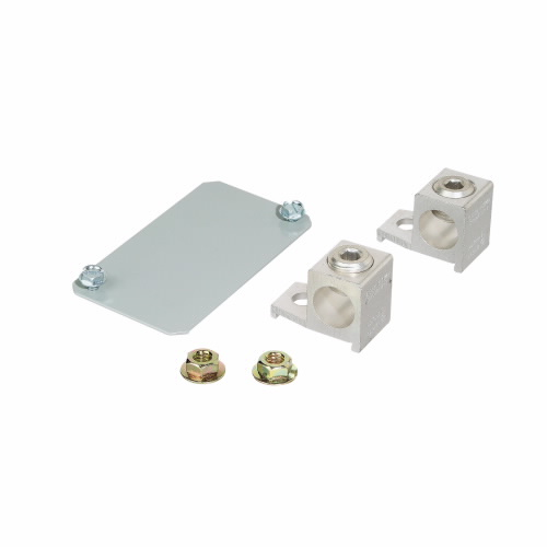 BR Main Lug Kit, 200 A, For Use With Type BR Loadcenters and Circuit Breakers, 2 Poles, Aluminum/Copper