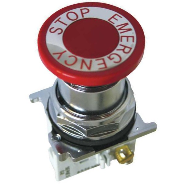 10250T Assembled Heavy Duty Illuminated Pushbutton, 30.5 mm, 1LONC, Mushroom Head Operator, Red