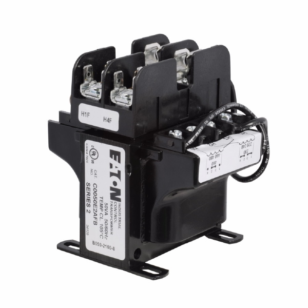 C0050E2AFB MTE Industrial Control Transformer With Primary Fuse Block, 120/115/110 V Secondary, 50 VA