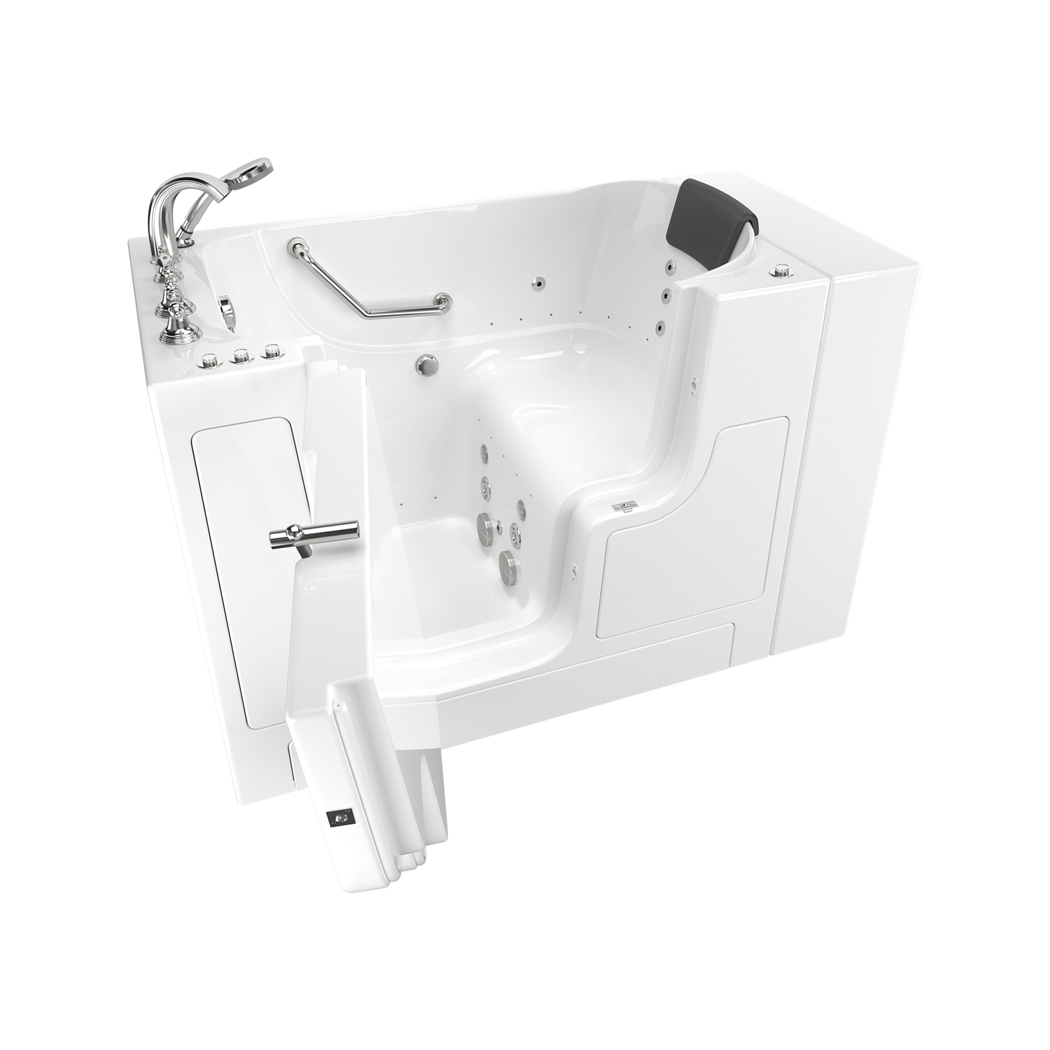 American Standard 3052OD.109.CLW-PC Premium Bathtub Without Jet, Air Spa/Whirlpool, 52 in L x 30 in W, Left Drain, White