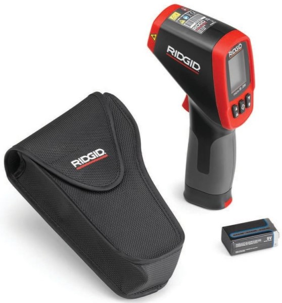 RIDGID 36798 Non-Contact Infrared Thermometer, -58 to 2192 deg F, /-4.5 deg F, 0.10 to 1, Alkaline Battery