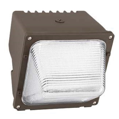 Hubbell WGH-110L-4K-U-M Wallpack With Photo control, LED Lamp, 50 W Fixture, 120 to 277 VAC, Dark Bronze Powder Coated Housing