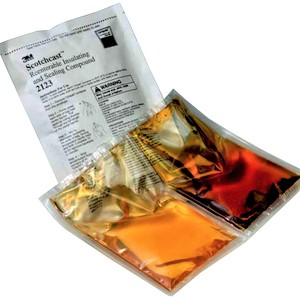 3M Scotchcast 051128-55120 2123 Re-Enterable Electrical Insulating Resin, 12.3 oz Size C/2-Part Pouch, Liquid, Amber/Clear/Transparent
