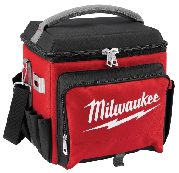Milwaukee 48-22-8250 Jobsite Cooler, 21.65 qt, Polyester, Black/Red, 14.96 in H