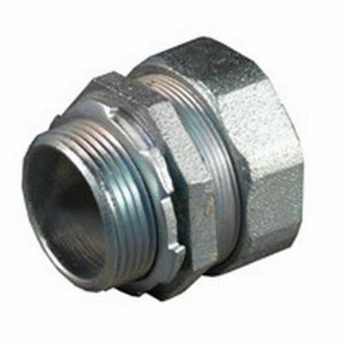 Appleton CG-1850S Strain Relief Straight Cord Connector, 1/2 in Trade, 3/16 to 5/16 in Cable Openings, Machined Steel, Natural