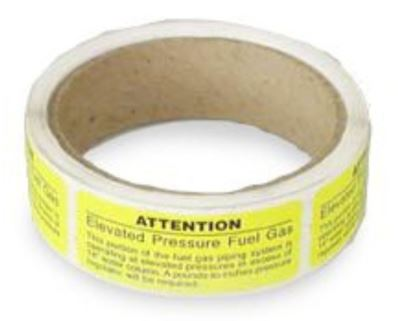 FlashShield EPAL-1-100 Adhesive Labels Roll For Elevated Pressure Identification, (100/Roll)