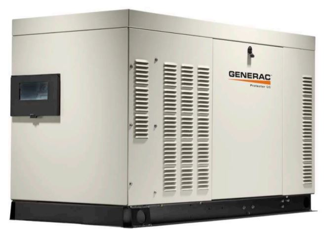 Generac RG02515ANAX Protector QS 1-Phase Liquid Cooled Standby Generator, 120/240 VAC, 104 A, 25 kW, 60 Hz