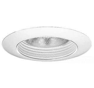 Progress Lighting TBW60 Stepped Baffle Trim, 6 in OD, For Use With FireTight 6 in Fire-Resistant Housing