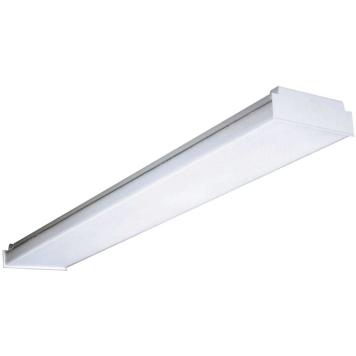 Columbia Lighting AWN4 LENS Low Profile Replacement Diffuser Fluorescent Wraparound Lens, Fluorescent Lamp, For Use With 2-Lamp T5, T5HO, T8 Fluorescent Wraparound Light Fixture, Acrylic