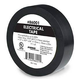 "3/4"" x 60' Black Electrical Tape"