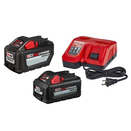 Milwaukee 48-59-1200P M18 REDLITHIUM HIGH OUTPUT HD Battery and Charger Starter Kit, 12.0Ah Battery