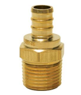PowerPEX 646XG43 ASTM F1807 MIP No Lead Brass Straight Adapters