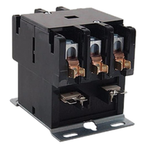 Allied 95M57 Contactor, 24 VAC Coil, TPDT Contact, 3 Poles