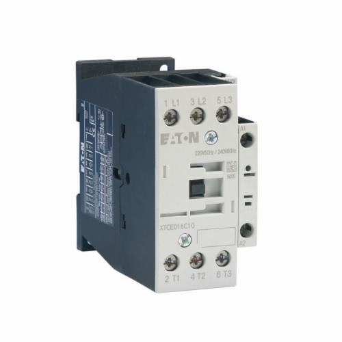 Eaton XTCE025C10T XT IEC FVNR Contactor, Three-Pole, Screw Terminals, 25A, 45 mm Frame Size