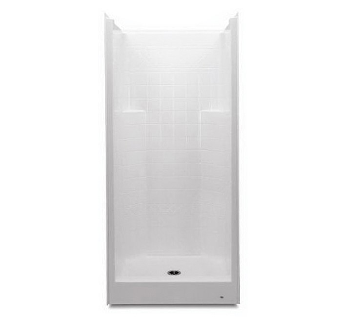 Aquatic 1363DTC-WH Everyday 1-Piece Shower Stall, 36 in W x 76 in H, Gel-Coated/White