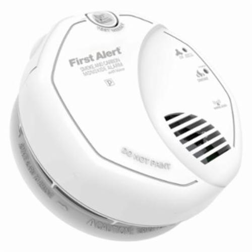 BRK SCO500B Combination Smoke and CO Alarm, Photoelectric Detection, (2) AA 1.5 VDC Battery, Audible Alarm/LED Display