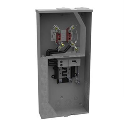 Milbank U5168-XTL-200 Ringless Meter Main Module With Load Center, 120/240 VAC, 200 A, 1 Phase, NEMA 3R Enclosure