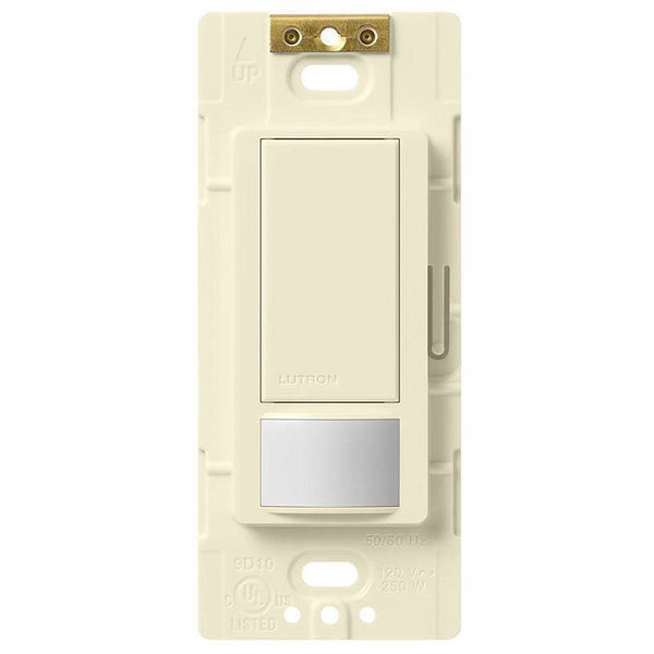 Maestro MS-OPS2-LA Single-Circuit Passive Infrared Sensor Switch, 120 to 277 VAC, Occupancy Sensor, 400 to 900 sq-ft Coverage, 180 deg, Wallbox Mount