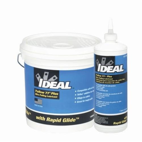 IDEAL Yellow 77 Plus 31-395 Wire Pulling Lubricant, 5 gal Pail, Paste, Yellow, 0.93