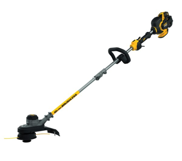 DeWalt 60V MAX* DCST970X1 Flexvolt Cordless String Trimmer, 15 in Cutting, 45 in Shaft Type, 0.08 in Dia Line, Bump Feed Line Advance