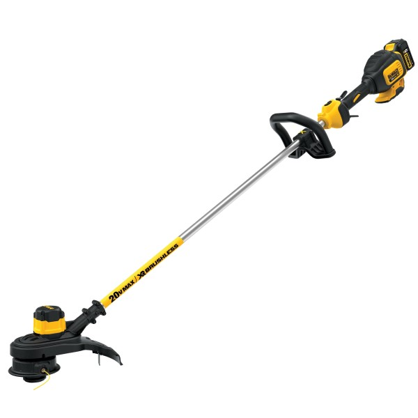 DeWalt 20V MAX* DCST920P1 XR 2-Speed Brushless Cordless String Trimmer, 13 in Cutting, 54 in Shaft Type, 0.08 in Dia Line, Bump Feed Line Advance