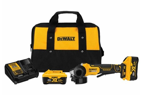 DeWalt DCG413R2 Small Cordless Angle Grinder With Kickback Brake, 4-1/2 in Dia Wheel, 20 VDC, Lithium-Ion Battery, 1 Batteries, Paddle Switch