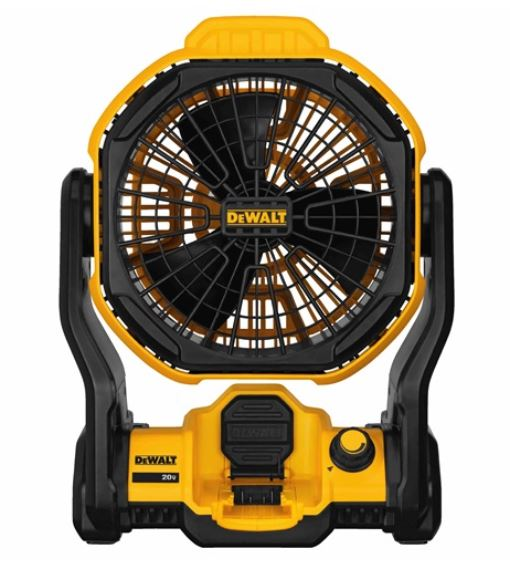 DeWalt DCE511B Corded/Cordless Jobsite Fan, 20 VAC, 500 cfm, 7 in Dia Blade, Bare Tool